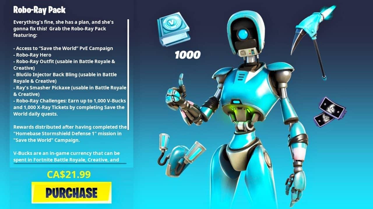 robo ray pack fortnite
