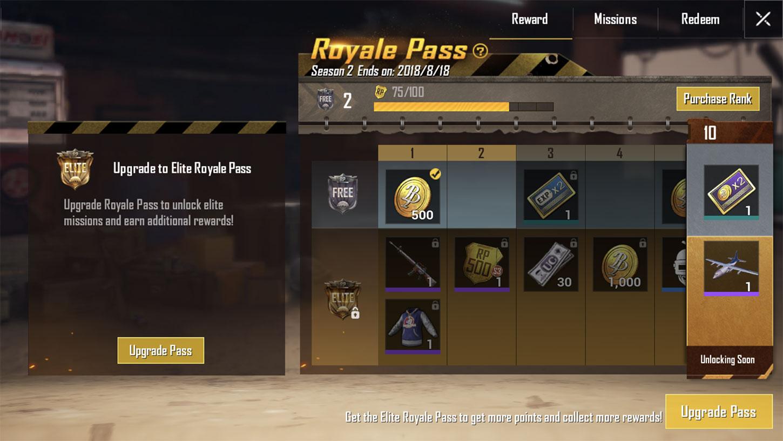 Royal pass pubg mobile